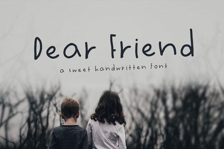 Dear Friend Hand Drawn Font