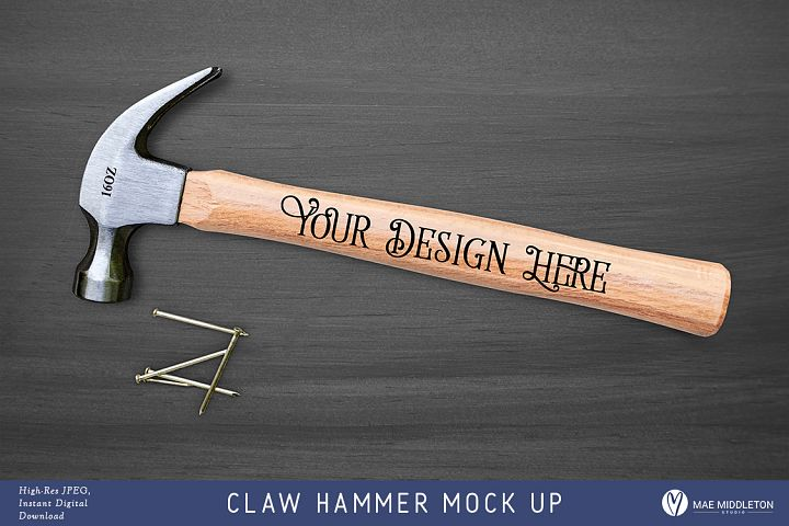 Claw Hammer Mock up, styled photo