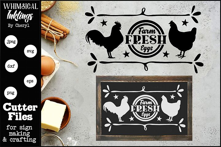 Farm Fresh Eggs 4 SVG