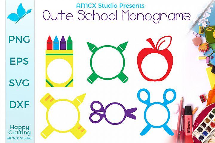 Cute School Monograms - Monogram Bundle