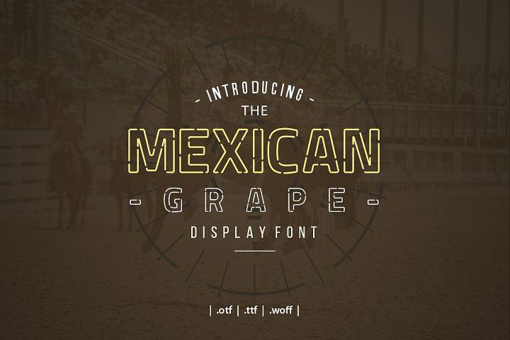 Mexican Grape Display Font