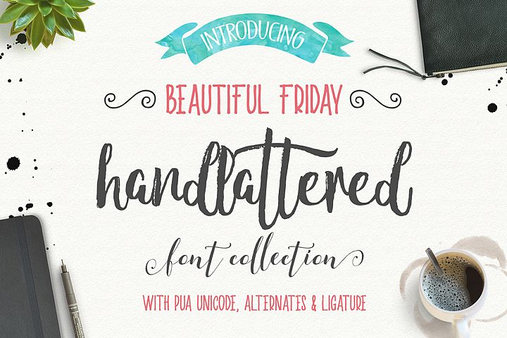Beautiful friday (13 Fonts)