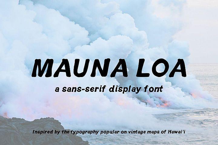 Mauna Loa | Vintage Hawaiian Font