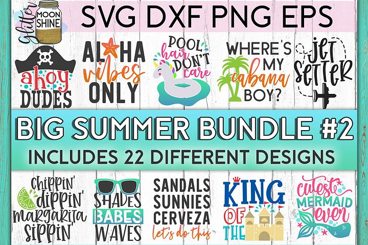 Big Summer Bundle of 22 SVG DXF PNG EPS Cutting Files #2