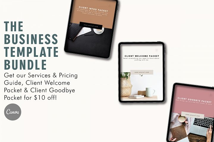 Business Template Bundle | Pricing Guide | Welcome Packet
