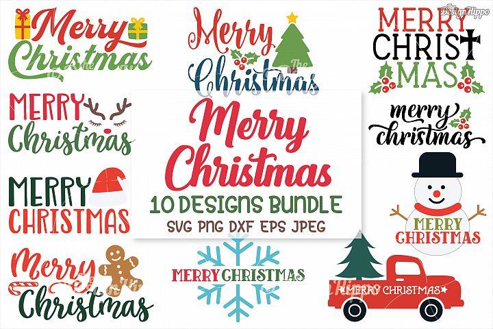Merry Christmas SVG Bundle, Christmas SVG, PNG, DXF Cut File