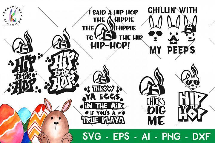 Easter bundle svg Happy Easterv Pack Hip Hop Bundle Bunny