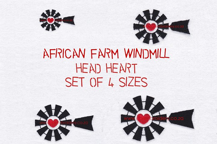 Red Heart Top Windmill Machine Embroidery File