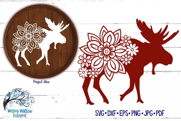 Floral Moose SVG | Winter SVG Cut File