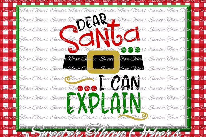 Santa I can Explain Svg Silhouette Christmas svg