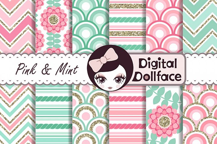 Pink and Mint Patterns