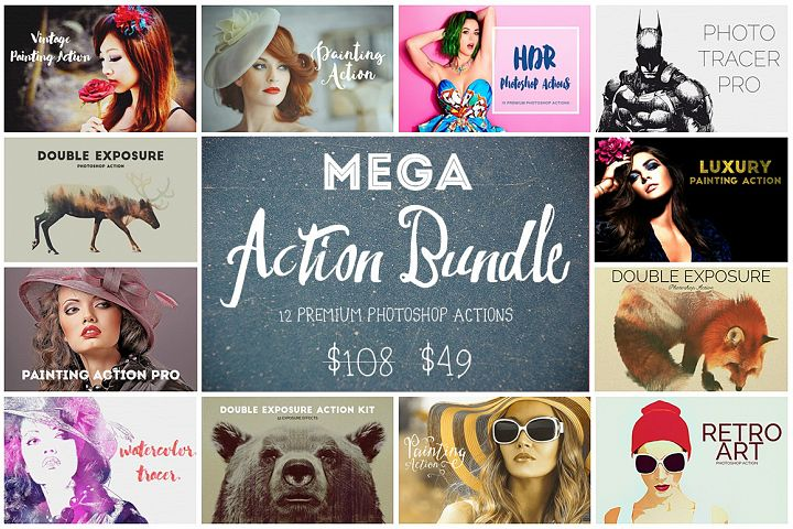 Mega Action Bundle - 75% OFF