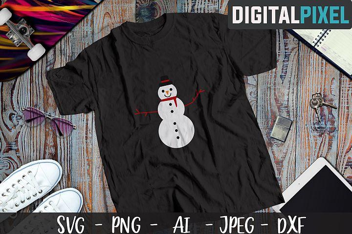 Snowman SVG PNG JPEG DXF - Silhouette Cameo, Cricut Cut