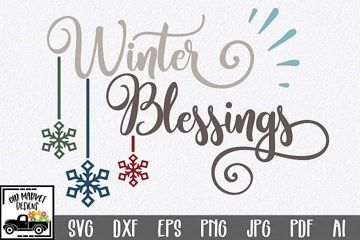 Winter Blessings SVG Cut File