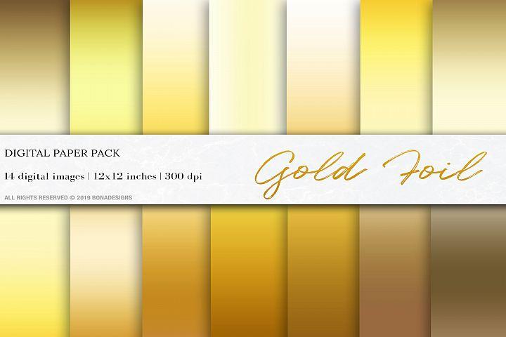Gold Foil Background, Gold Gradient Digital Papers
