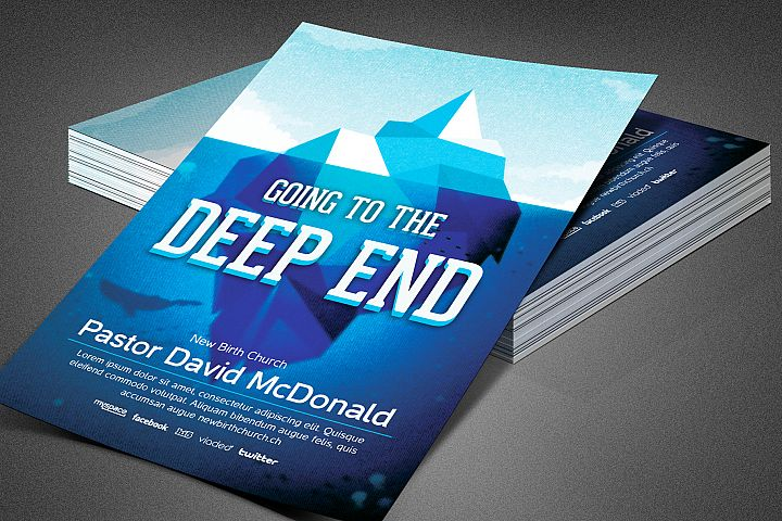 Going To The Deep End Church Flyer