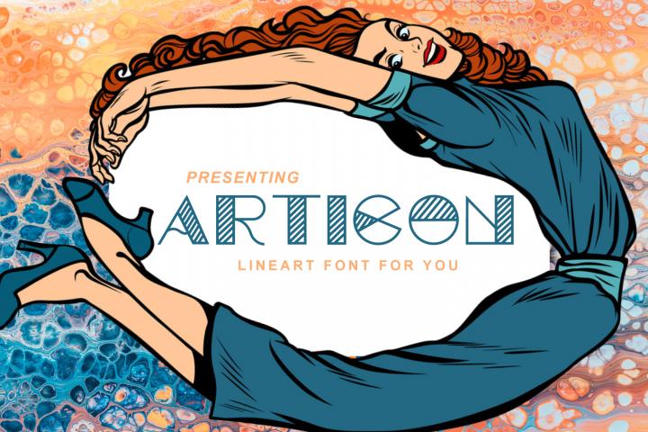 Articon - A Cute Lining Font