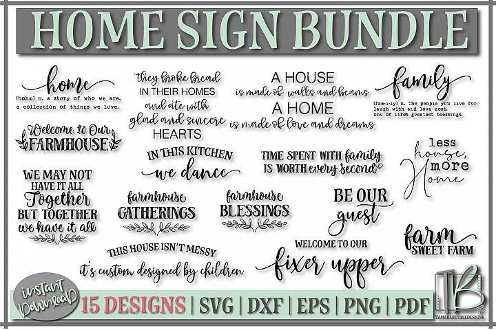Wood Sign SVG Bundle, Family Bundle, Home SVG File