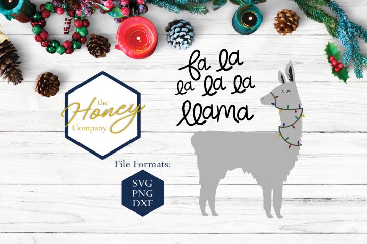 Fa La Llama SVG DXF PNG Animal Funny Christmas Cut File
