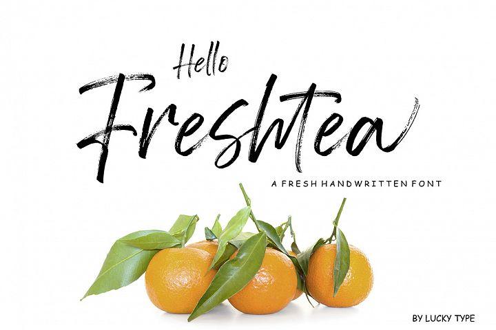 Hello Freshtea Brush Font