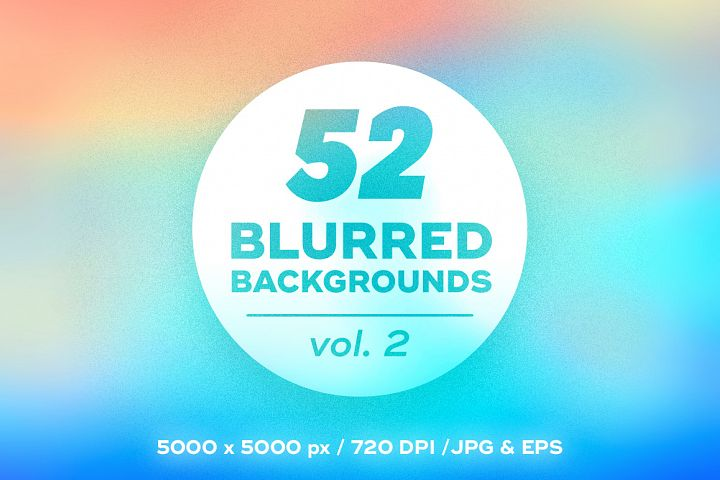 52 Colorful Blurred Backgrounds