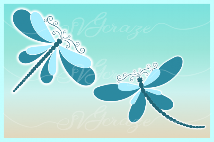 Dragonfly Mandala Zentangle Bundle Svg Dxf Eps Png Pdf Files - Free Design of The Week Design1