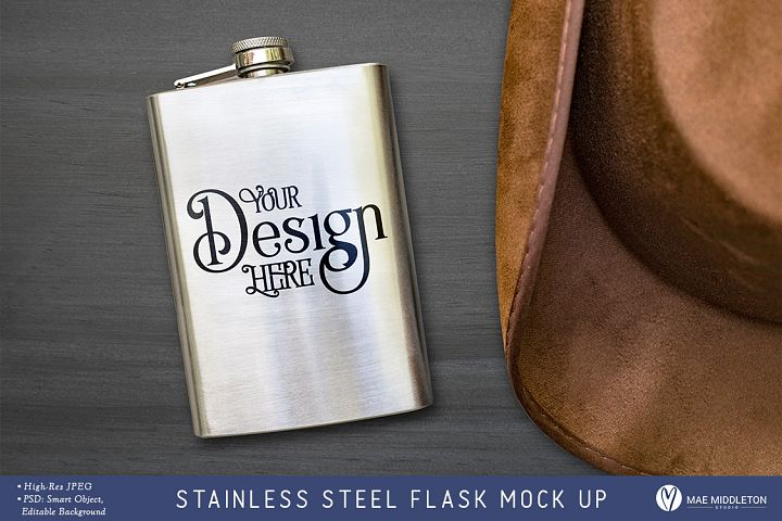 Stainless steel Flask Mock up