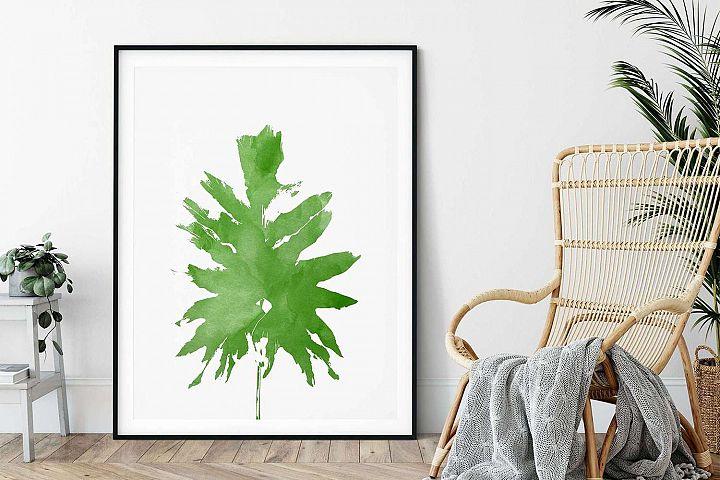 Green Tropical Plant, Printable Wall Art