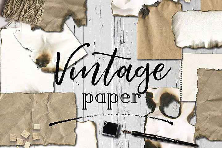 Vintage old burn paper texture backgrounds