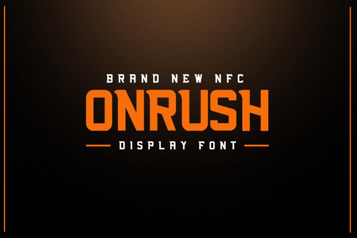 NFC ONRUSH DISPLAY FONT