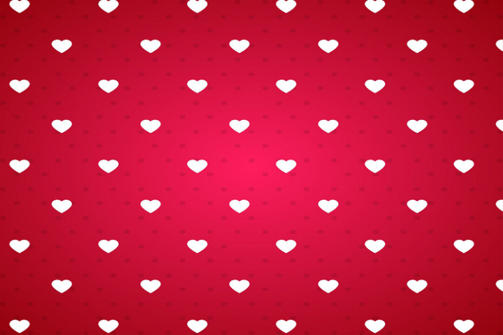 Red bottom white love background vector