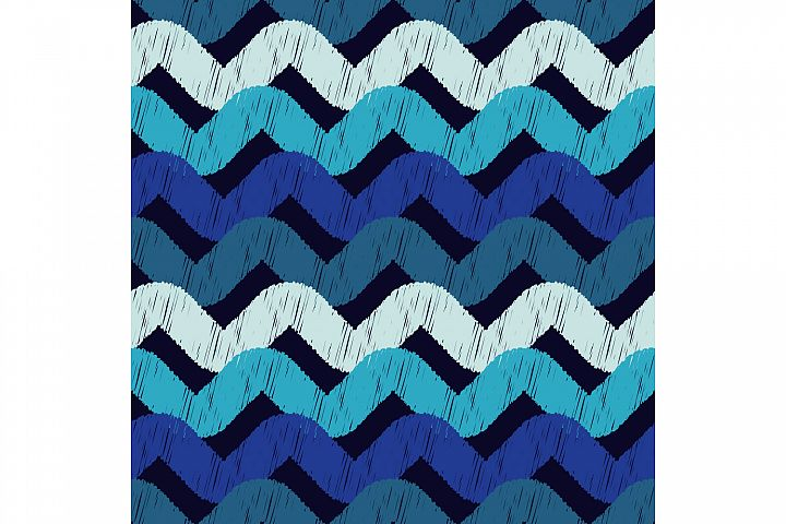 Waves. Ethnic boho ornament. 10 seamless patterns.