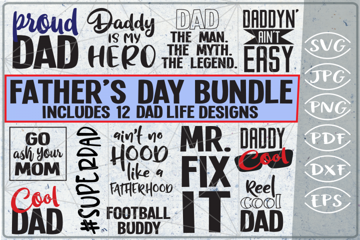 Fathers Day SVG Cutting Files - Dad Life SVG Cutting Files