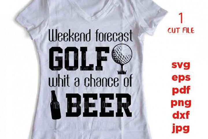 Weekend forecast golf with a chance of beer svg, golf svg, g example image 3