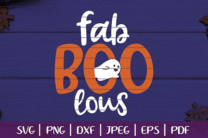 Fab Boo Lous SVG, Boo Halloween Cut File, Trick Or Treat SVG example