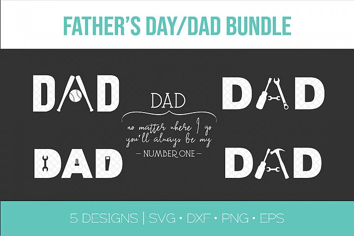 Fathers Day SVG Bundle - Dad SVG DXF Vector Stencil Clipart
