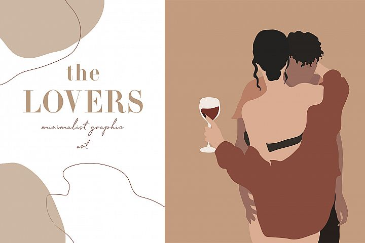 The Lovers Minimalist Graphic Art