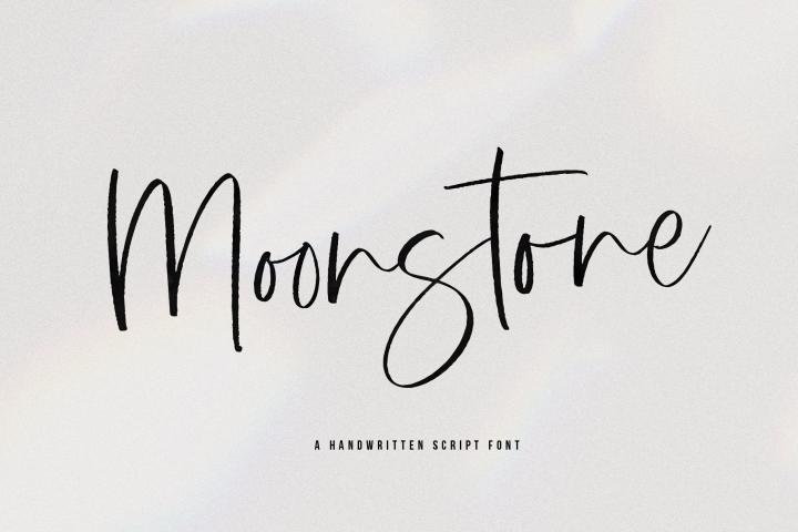Moonstone - A Handwritten Script Font