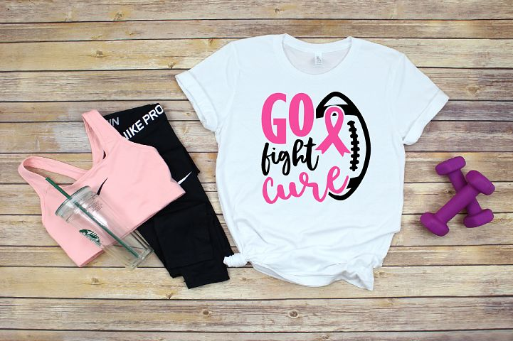 Football Tackle Breast Cancer Svg,,Go fight cure svg,