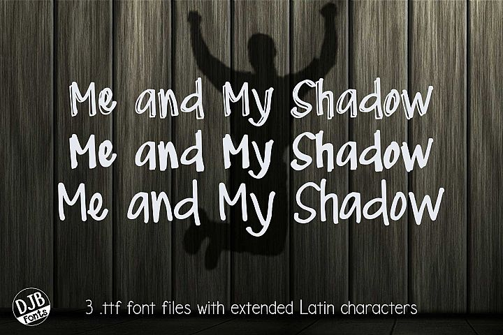 DJB Me and My Shadows Font Bundle