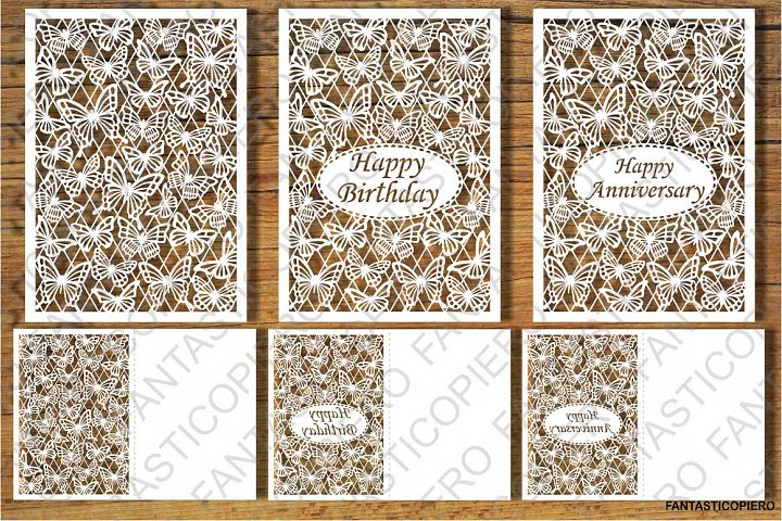 Happy Birthday, Anniversary, Greeting card SVG files.