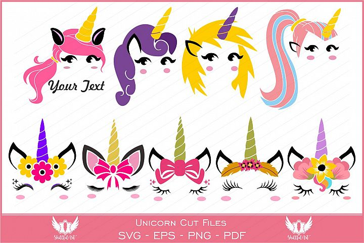 Unicorn svg, unicorn face svg, licorne, unicorn face clipart