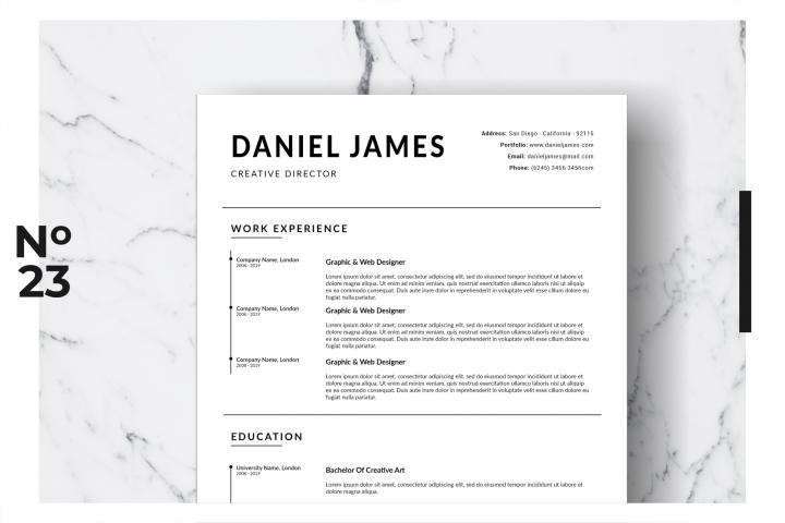 Resume Template Vol. 18