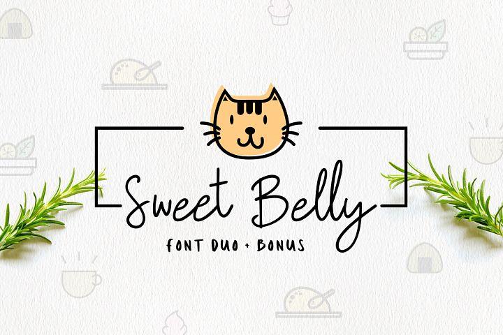 Sweet Belly | Font Duo + Bonus