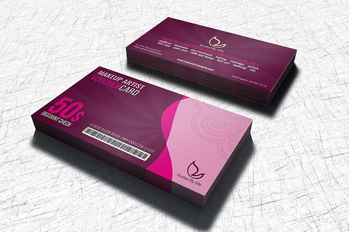 Beauty Center Gift Voucher Card Template