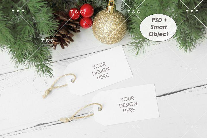 Gift Tag Mockup / Christmas Present Tag Mockup