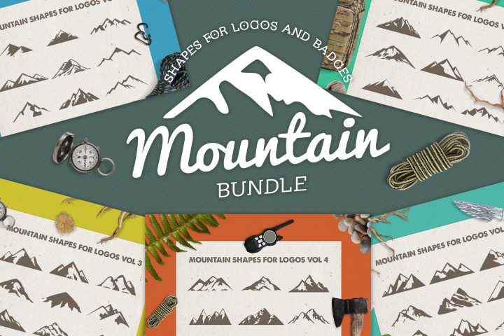 Mountain Shapes Bundle / Mountain Silhouette / Mountain SVG
