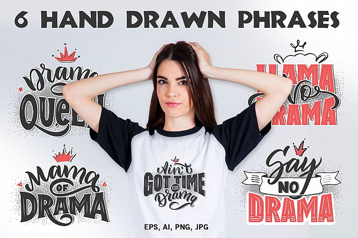 6 lettering phrases for girls