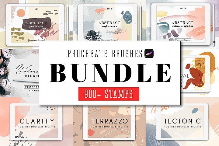 All Procreate Stamp Brushes Bundle