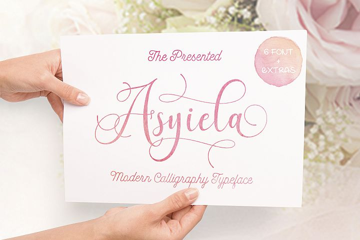 Asyiela Script Font Bundle